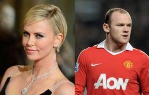 Nariz Boton - Charlize Theron y Wayne Rooney
