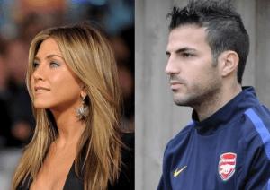 Jennifer Aniston y Cesc Fábregas, dos narices griegas famosas